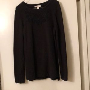 Coldwater Creek black medium sweater.